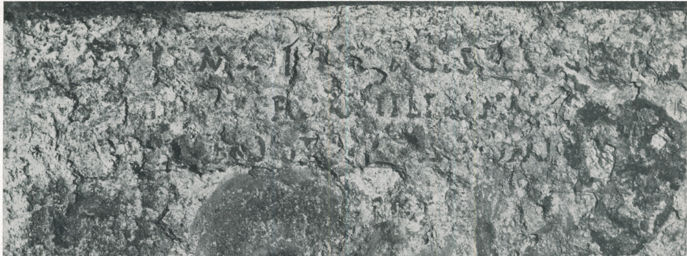 The nos servasti inscription - left hand side