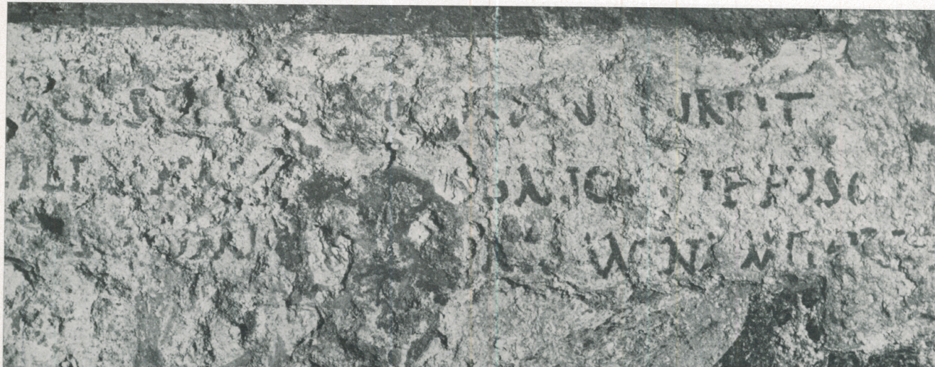 "The ""nos servasti"" inscription - right hand half"