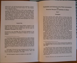 An opening of the Antiochus of Athens booklet from Project Hindsight
