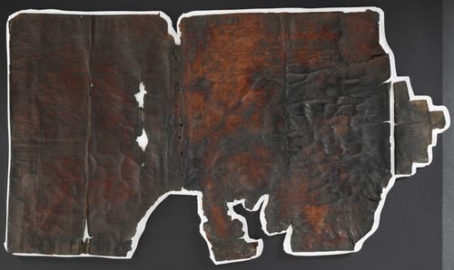 British Library Papyrus 1442 - 8th century leather binding of Coptic tax register