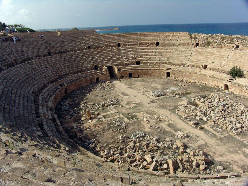 Amphitheatre, Leptis Magna.