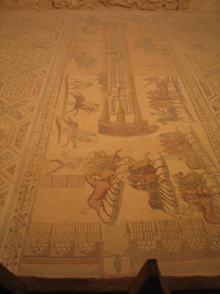 Villa Selene nr Leptis Magna - chariot racing (original)
