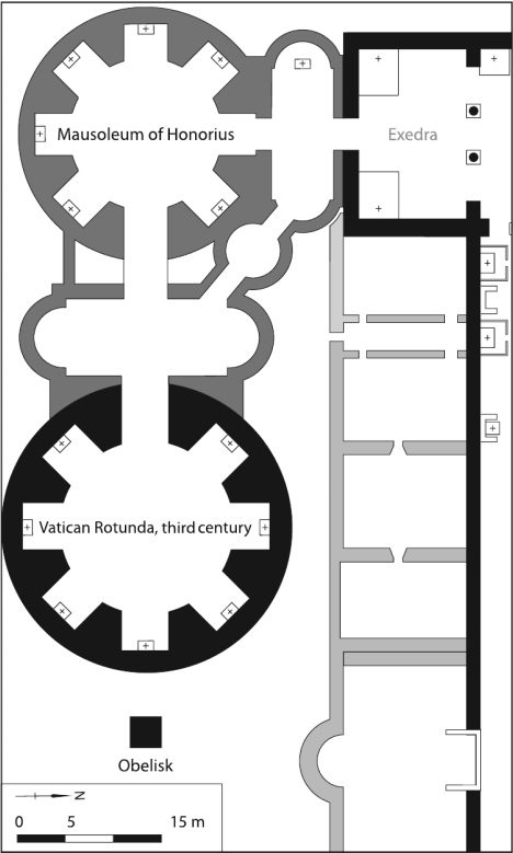 Plan of the mausoleum of Honorius.