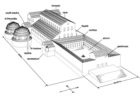 St Peters basilica in Rome in the early sixth century