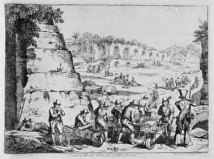 1831 - Excavations around the Meta Sudans
