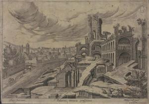 Ruinarum varii prospectus ruriumq. aliquot delineationes. By P. Galle and Hendrick van Cleve. 156-1612? Via BNE.