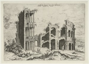 Septizonium: Septizonii Severi Imp. cum continguis ruinis. Hieronymus Cock, 1551.  Via Rijksmuseum