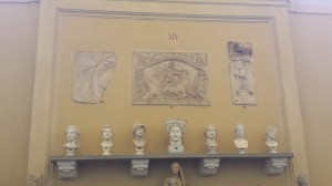 Mithraic monuments in the Chiaramonti gallery in the Vatican museum