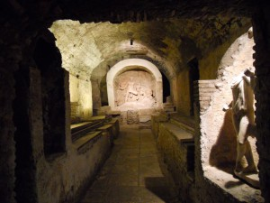A long view of the Mithraeum of Santa Prisca