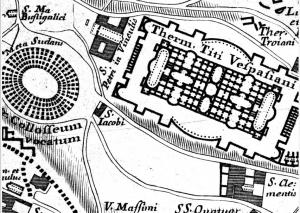 Bufalini (1551) - Baths of Titus