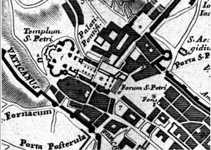 Buffalini (1551) - Plan of Old St Peter's