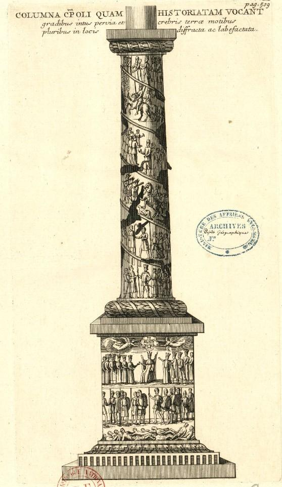 Column of Arcadius, Istanbul, in 17th c.