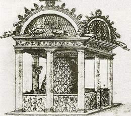 La fontana di San Pietro, in un disegno a penna di anonimo del 1525 c.ca.