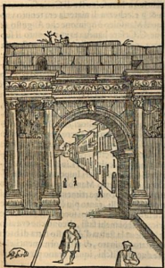 Arch of Domitian (or Claudius). Gamucci, 1565.