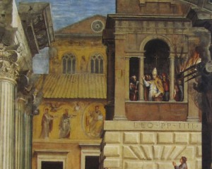 Raphael, Burning of the Borgo, more detailed