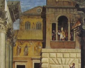 Raphael, Burning of the Borgo, more detailed