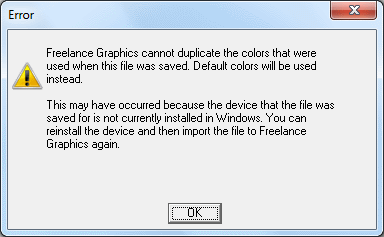 Lotus Freelance Graphics - import warning for Freelance for DOS files