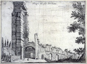 Mercati (1629), Aurelian's temple of the sun in Rome