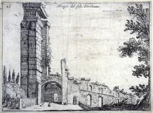 Mercati (1629), Aurelian's temple of the sun in Rome