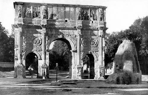 Meta Sudans and Arch of Constantine, around 1922