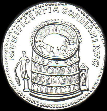 Meta Sudans - medallion of Gordian