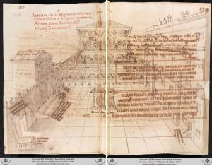 Grimaldi, Atrium of Old St Peter's. Ms. Barberini latin 2733, fol.133v-134r.