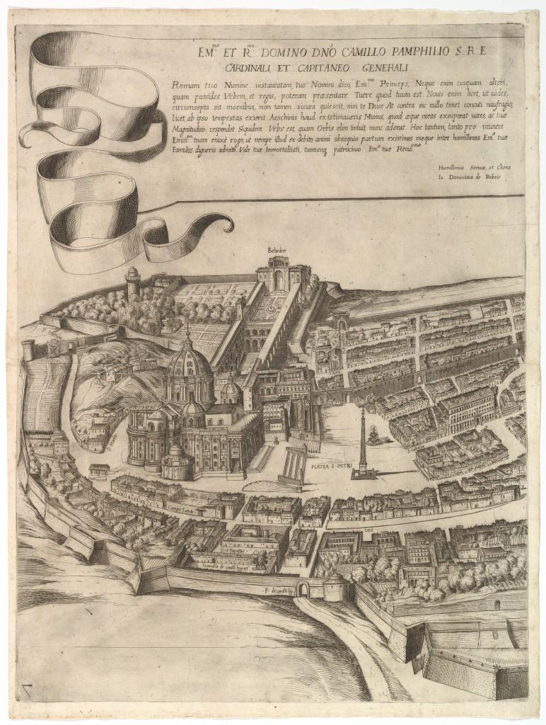 A. Tempesta, 1645. Map of Rome.
