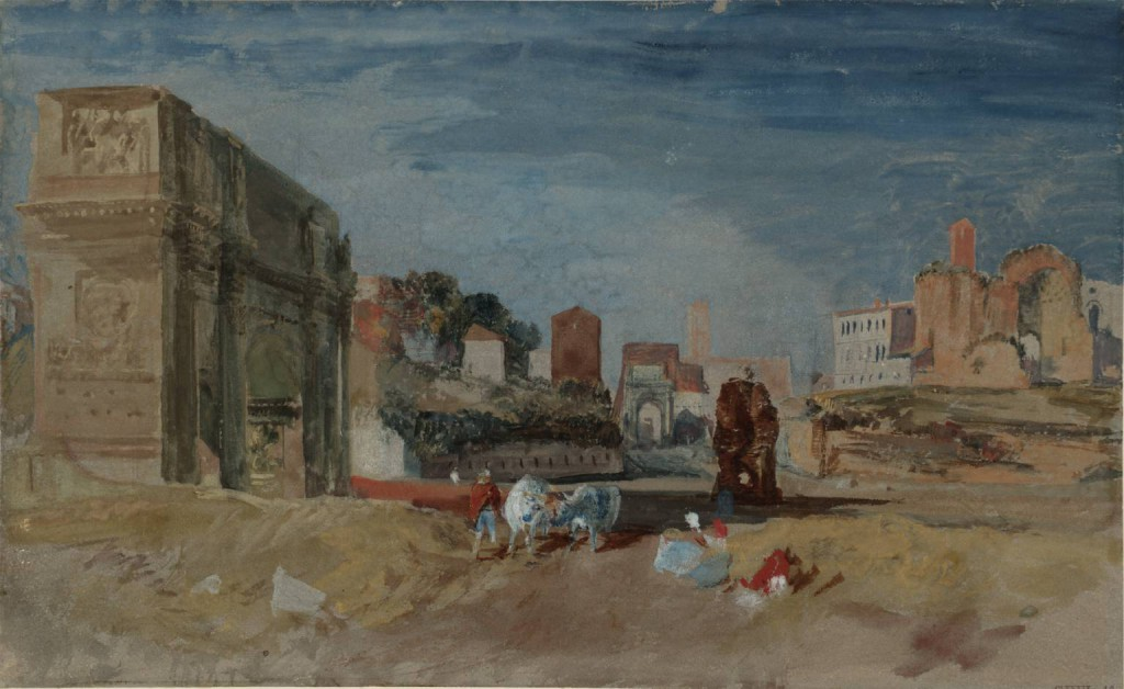 Rome: Arches of Constantine and Titus 1819 Joseph Mallord William Turner 1775-1851 Accepted by the nation as part of the Turner Bequest 1856 http://www.tate.org.uk/art/work/D16367