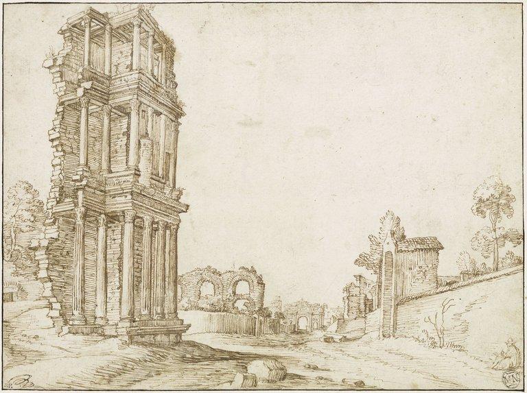 original BRIL Matthijs le Jeune flamande Fonds des dessins et miniatures