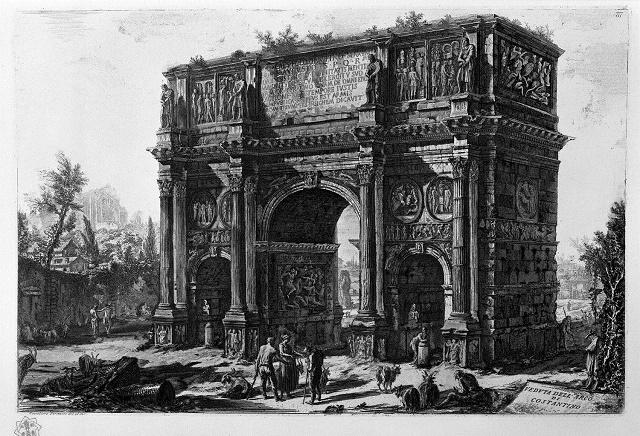 G.B.Piranesi, Arch of Constantine with Meta Sudans