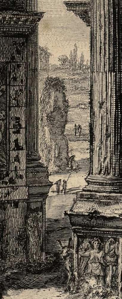"Piranesi, Meta Sudans in ""Veduta di Arco Costantino"""