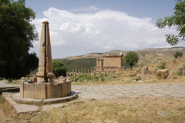 Roman fountain at Djemila in Algeria