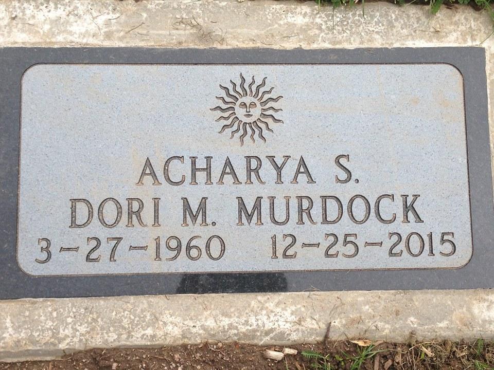 Acharya S' gravestone.