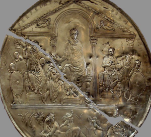 Commemorative disk of Theodosius I from Badajoz