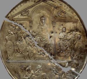 Commemorative disk of Theodosius I from Badajoz