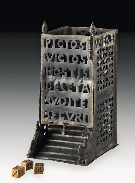 Roman dice tower. From Wikipedia