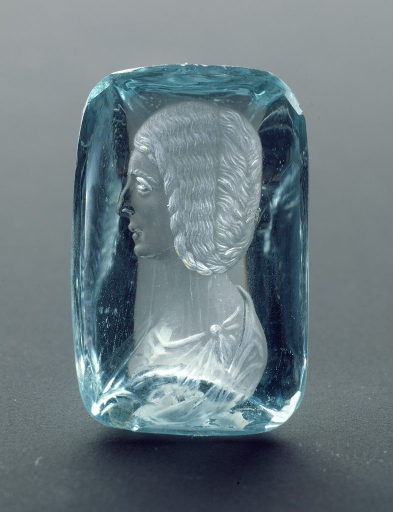Beryl Intaglio with Portrait of the Empress Julia Domna. Met Museum.