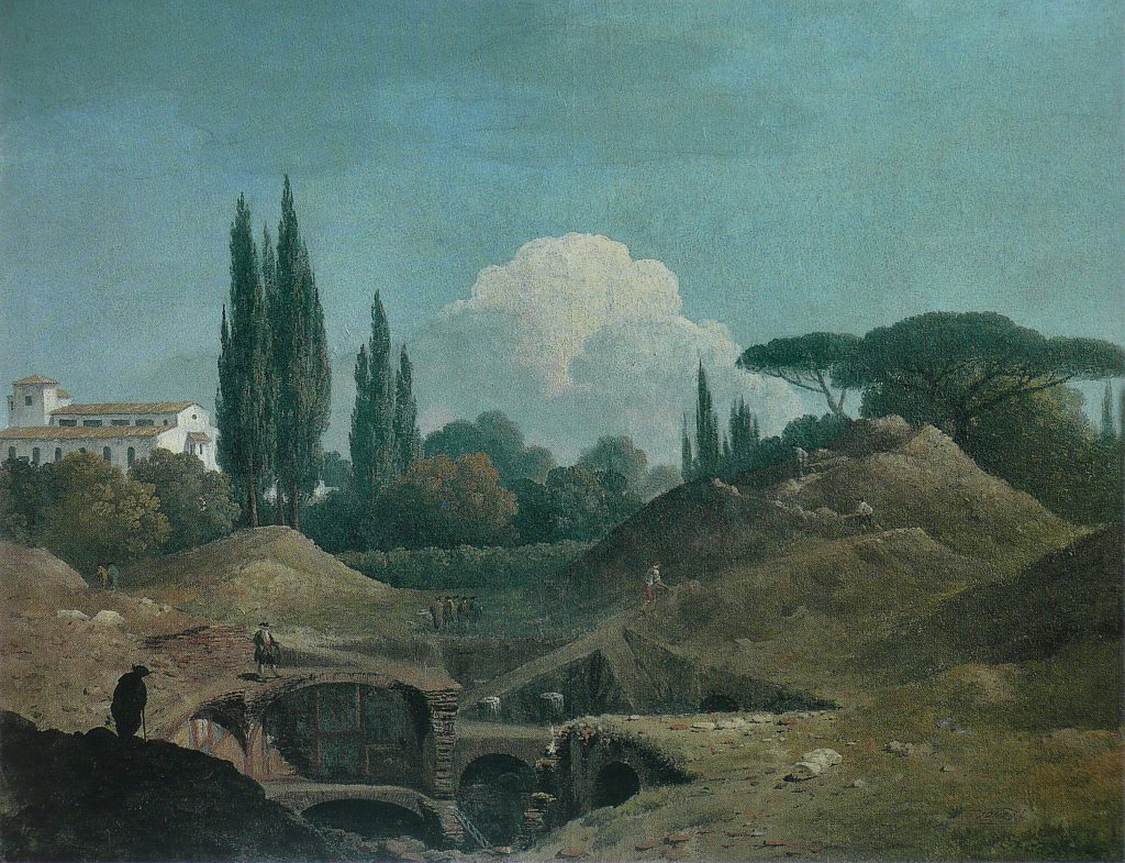 "Thomas Jones, ""An Excavation of an Antique Building in a Cava in the Villa Negroni, Rome"", 1777 or 1779."