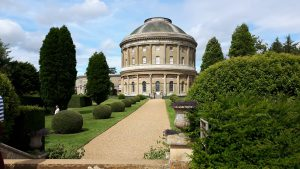 Ickworth House. A view of the rotunda from the garden.