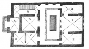 Floor plan of the ancient house discovered in 1777 at the Villa Negroni