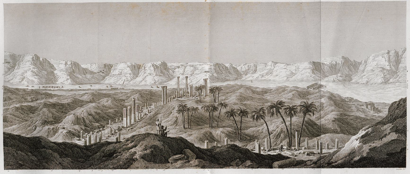 The ruins of Antinoupolis. Description de l'Egypte.