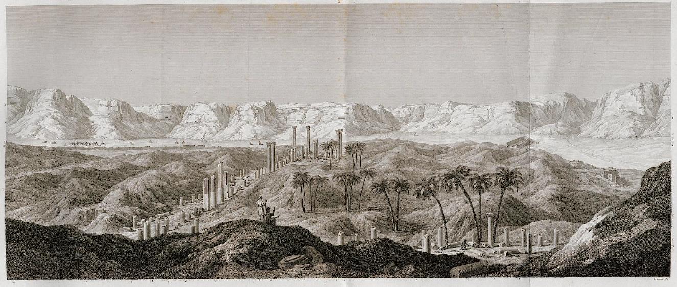 The ruins of Antinoupolis. Description de l'Egypte.
