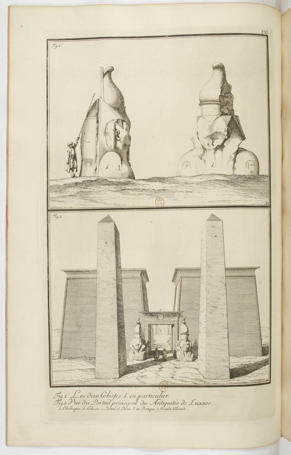 Frederic Norden, Luxor Temple, 1737