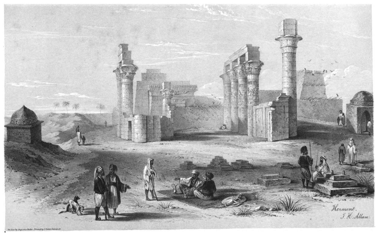 Armant, temple of Caesarion.  J. H. Allan, 1843