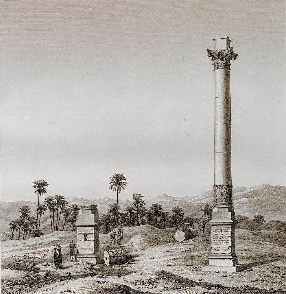 Jomard, Description de l'Egypte, plates vol. 4, plate 59. The column of Alexander Severus at Antinoupolis /Antinoe / Insine/ Sheikh Abade.
