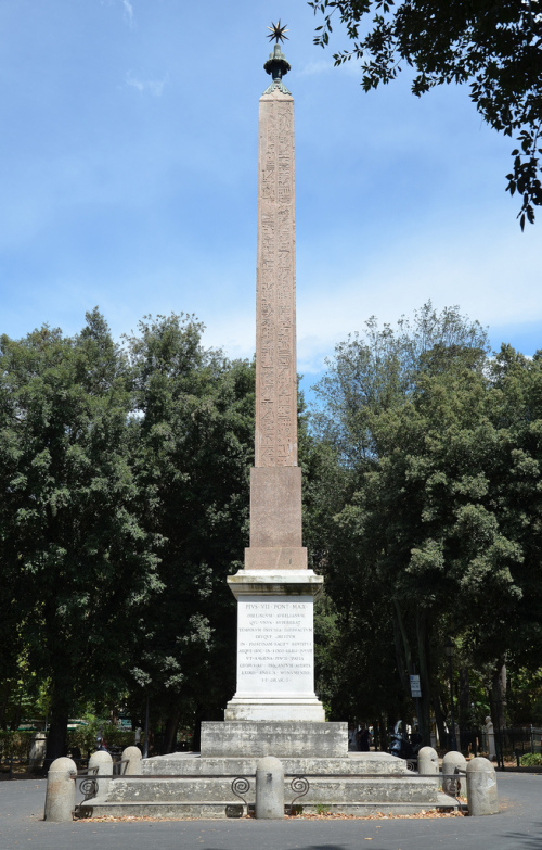 The obelisk of Antinous on the Pincian Hill in Rome.  By Carole Raddato.