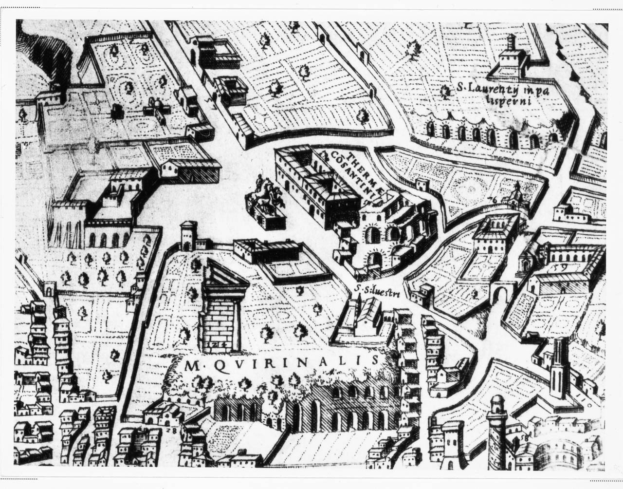 Numerous Th Century Drawings Of The Temple Of The Sun Serapis - Rome map cartoon